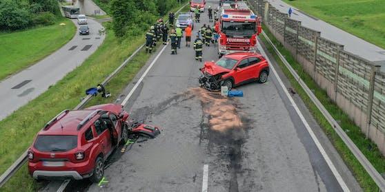 Ein Toter und vier Verletzte bei Unfall; auch ein Hund starb.