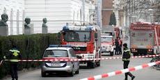 Unbekannte steckten Polizei-Auto in Brand, 3 Verletzte