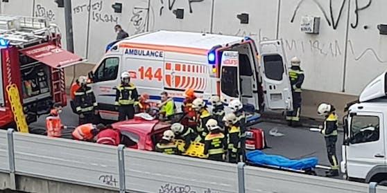 Schwerer Unfall in Wien-Penzing