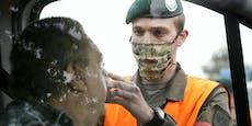 Bundesheer-Soldaten am Flughafen Wien im Virus-Einsatz