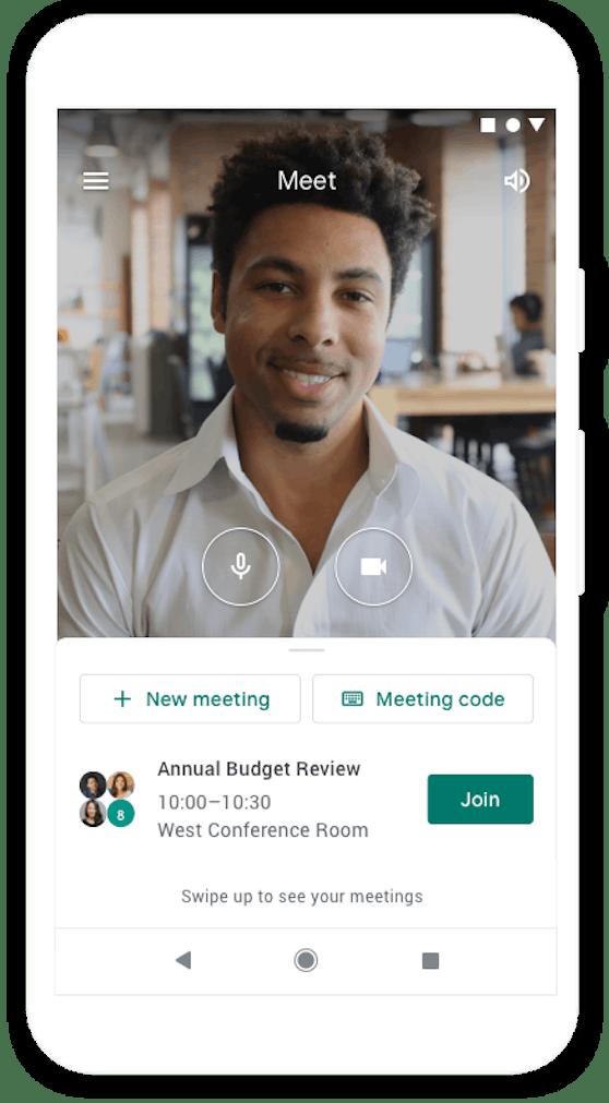 Google Meet ist jetzt auch in der Gmail-App verfügbar.