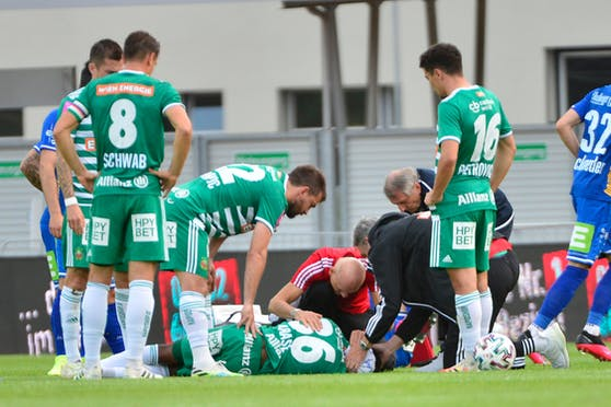 Rapids Arase verletzte sich in Hartberg