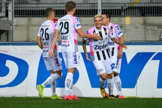 Der LASK jubelt früh gegen Sturm Graz.