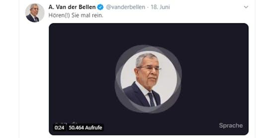 140 Sekunden lang kann man seine Stimme aufnehmen und anschließend mit seinen Followern teilen. Alexander Van der Bellen hat es bereits getan.