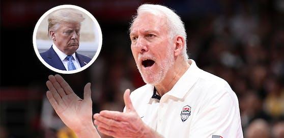 NBA-Coach Gregg Popovich kritisiert US-Präsident Donald Trump.