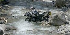 25-Jähriger stürzt mit BMW-Bike in Bach