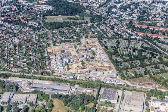 """Das Stadtentwicklungsgebiet """"Am Wildgarten"""" in Meidling."""