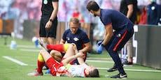 Sabitzer nach Crash mit Haaland am Knie angeschlagen