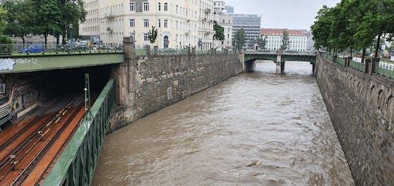 Der Wienfluss.