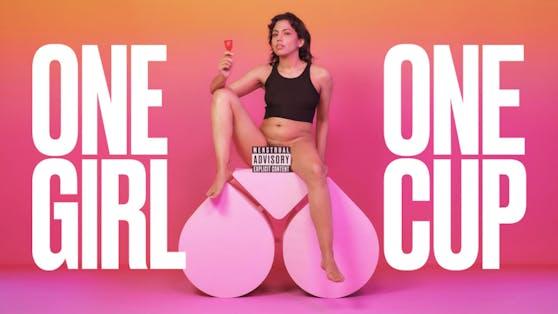 """Mit der Kampagne """"One Girl One Cup"""" wirbt The Female Company für seine Menstruationsbecher auf Pornhub."""