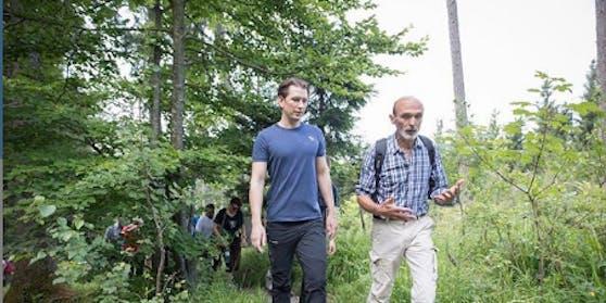 Bundeskanzler Sebastian Kurz macht die eine oder andere Wanderung.