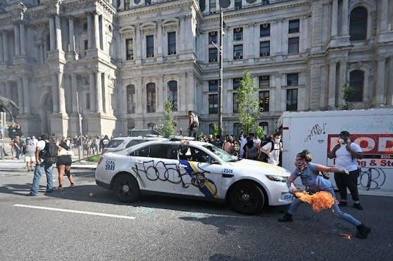 Dieses Foto wurde einer Demonstrantin in Philadelphia zum Verhängnis.
