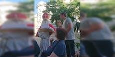 Was macht der Nikolo mitten im Juni in Wien-Margareten?