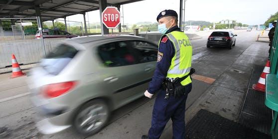 Der Grenzübergang zwischen Österreich und Slowenien