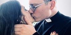 Dieser Priesterkuss erregte das Netz