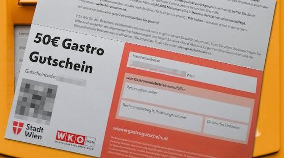 So sah er aus: Der Wiener Gastro-Gutschein