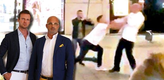 """Die Star-Anwälte Philipp Wolm und Nikolaus Rast verteidigen die Prügler vom """"Schwarzen Kameel""""."""