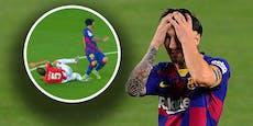 Messi im Glück! Für diesen Tritt gab es nicht Rot