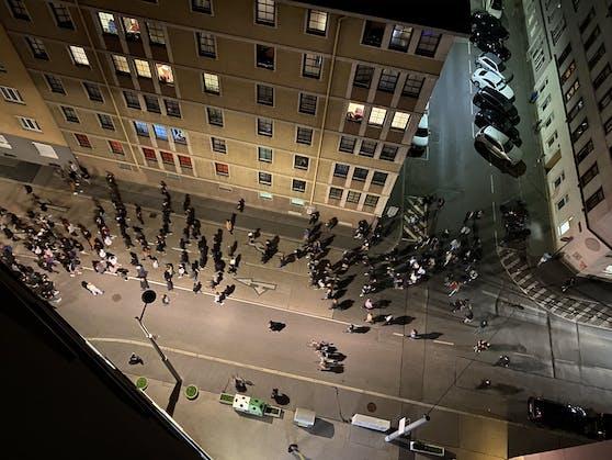 Am Mittwoch kam es zu ungewöhnlichen Szenen in Wien.