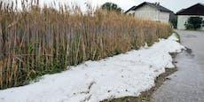Unwetter taucht OÖ in winterliches Weiß