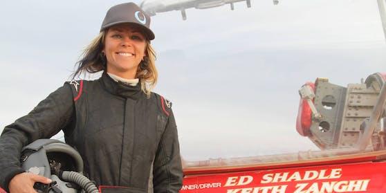 Rennfahrerin Jessi Combs vor ihrem Rekordversuch