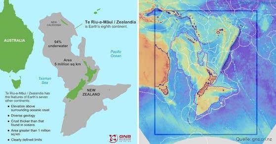 Zealandia, der achte Kontinent, konnte nun in seiner vollen Pracht kartiert werden.