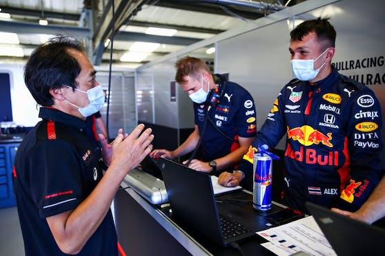 Alex Albon testet mit dem Red-Bull-Team die Abläufe für Spielberg.