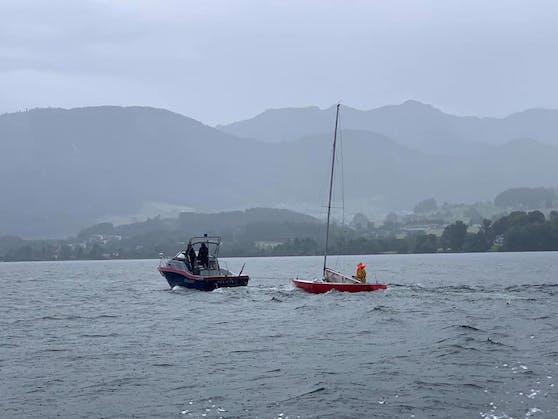 Die beiden Wiener konnten unverletzt wieder ans Ufer gebracht werden.