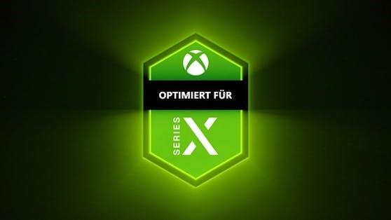 """Das ist das """"Optimiert für Xbox Series X""""-Badge."""