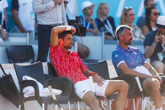 Nach Novak Djokovic ist auch sein Trainer Goran Ivanisevic mit dem Coronavirus infiziert.