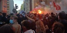 Faschisten verprügeln Reporter bei Krawallen in Wien