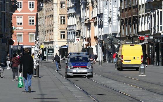 Polizeieinsatz in Graz. Symbolbild.