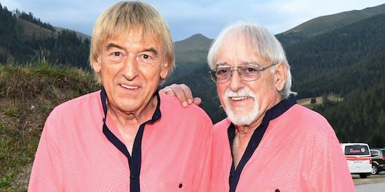 """""""Die Amigos"""" zittern um die Zukunft ihrer Band:Karl-Heinz Ulrich (71, rechts) hat in der Corona-Krise seine Stimme verloren."""