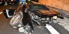 Ferrari nach Crash mit 200 km/h völlig zerstört