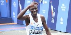 Marathon-Star wird von Motorrad niedergefahren