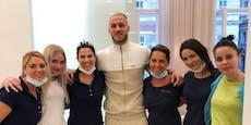 Das passiert, wenn Marko Arnautovic zum Zahnarzt geht …