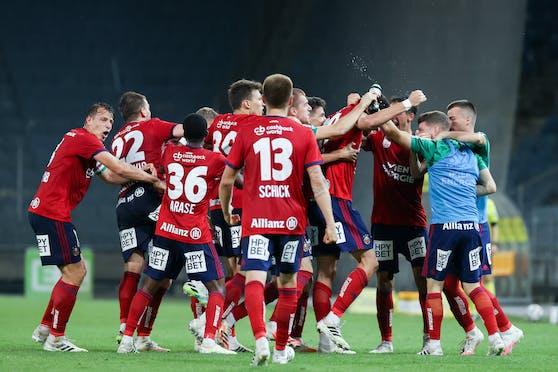 Rapid drehte erstmals seit 1985 ein 0:2 in einen Sieg