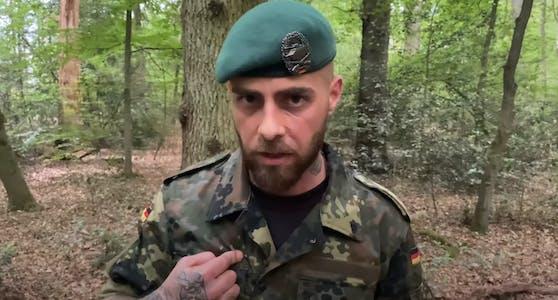 """Der selbsternannte """"Wehrwolf"""" ruft Bundeswehr- und Polizeiangehörige zum bewaffneten Widerstand auf."""