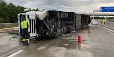 Totalsperre nach Butter-Crash auf A2 bei Baden