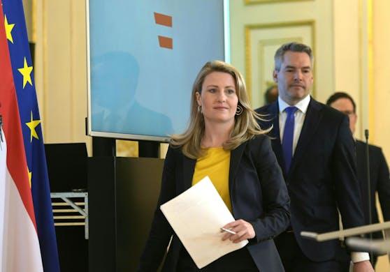 Integrationsministerin Susanne Raab und Innenminister Karl Nehammer (beide ÖVP)