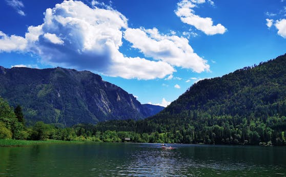 Ein Wochenende mit dem Huawei P40 Pro+: Nahaufnahme der wunderschönen Kulisse am Lunzer See.