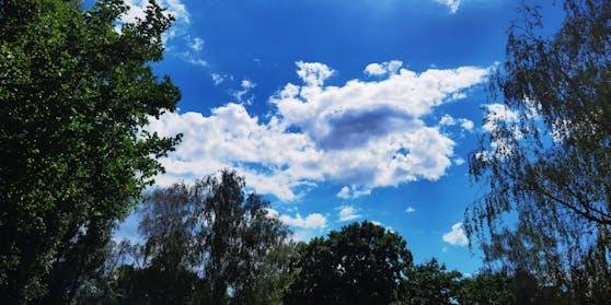 Sonne-Wolken Spiel im Floridsdorfer Wasserpark