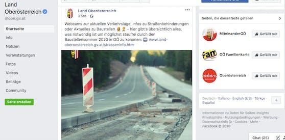Hoppala! Das Land OÖ scheint auch in Weißrussland Straßen zu bauen.