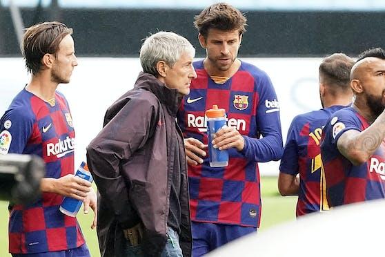 Barcelona-Trainer Setien steht in der Kritik.