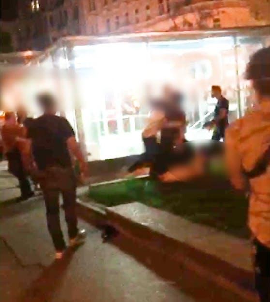 Die Polizei musste vor Ort einschreiten.
