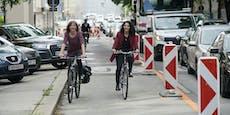 Hörlgasse: Radweg unter Protest eröffnet