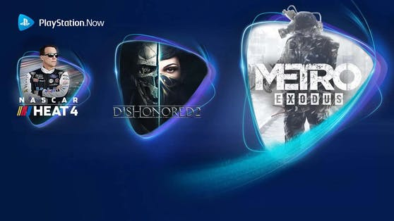 PlayStation Now-Spiele im Juni: Metro Exodus, Dishonored 2 und NASCAR Heat 4.