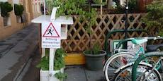Vorsicht Radfahrer: Hier queren Wirte den Gehsteig