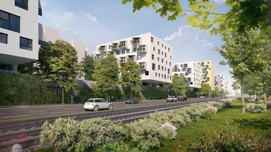 So wird der neue Gemeindebau aussehen.