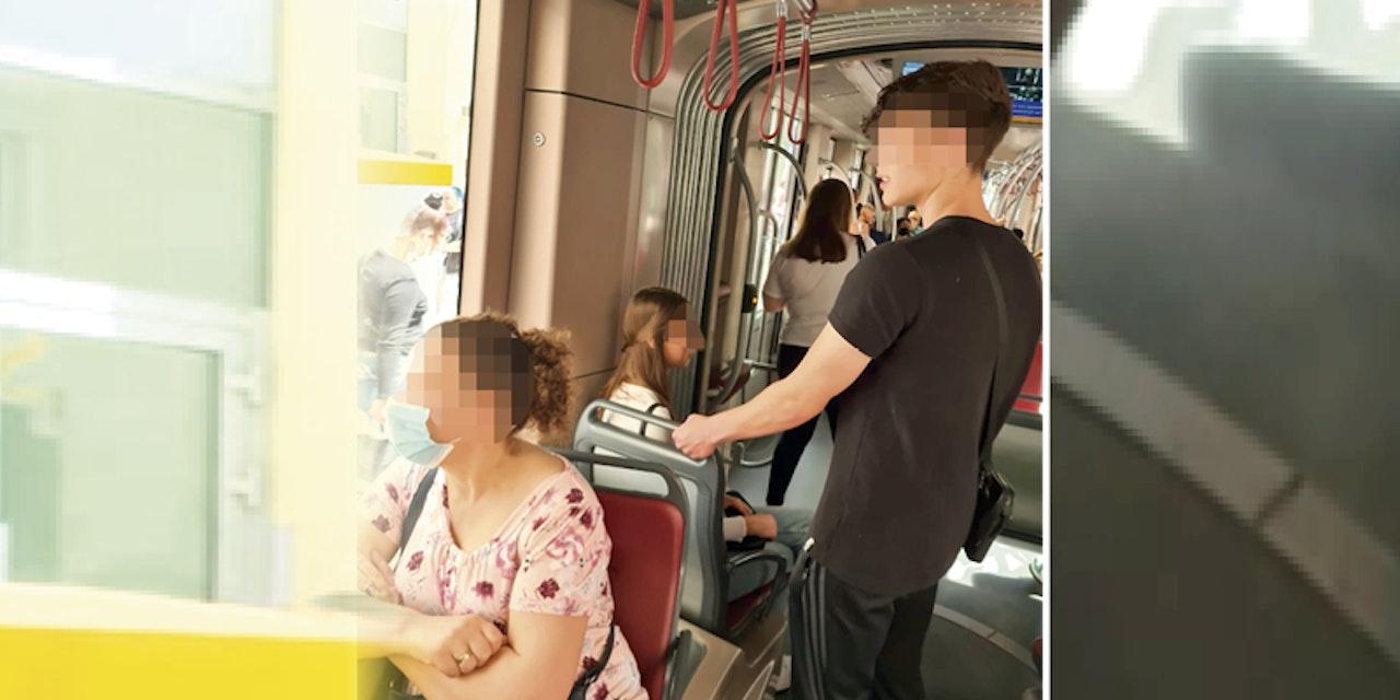 Foto beweist: Maskenpflicht in der Bim wird ignoriert